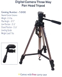 Savage TD-100 Digital Camera Tripod with Three-Way Pan-Head