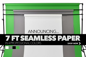 NEW! 7' Wide Savage Seamless Paper Roll